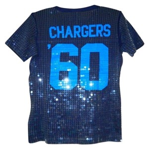 Victoria's Secret Pink Jersey 60 Shortsleever Nfl T Shirt Blue