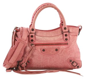 Balenciaga Town Classic Leather Tote in Pink