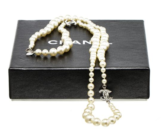 Chanel Chanel Classic CC Faux Pearl Necklace 488678 Image 5