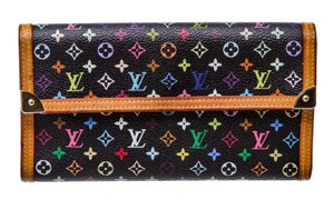 Louis Vuitton Louis Vuitton Black Multicolor Tressor International Wallet 488850