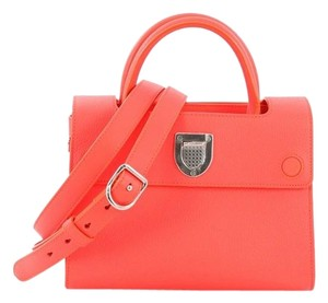 Dior Diorever Leather Satchel in Neon Pink