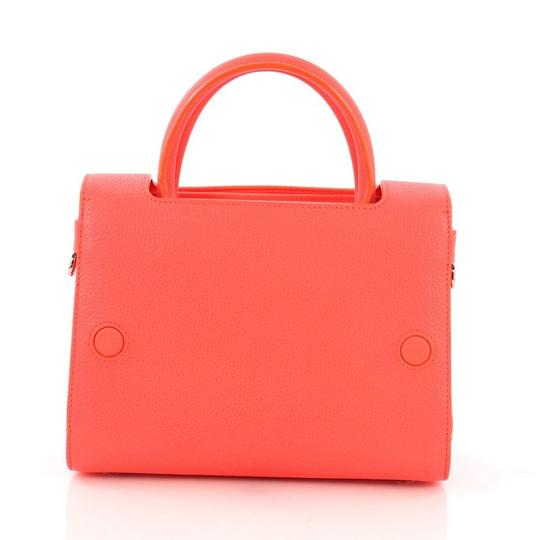 Dior Diorever Leather Satchel in Neon Pink Image 1