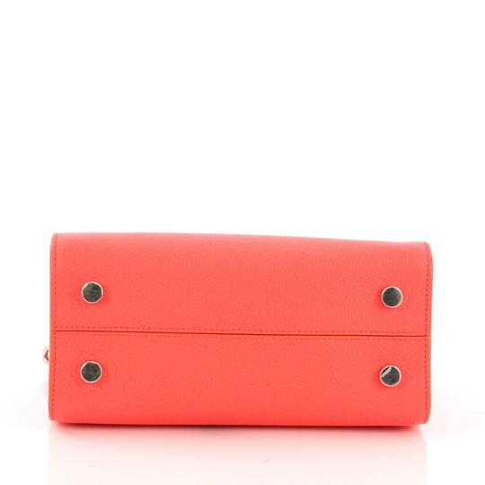Dior Diorever Leather Satchel in Neon Pink Image 3