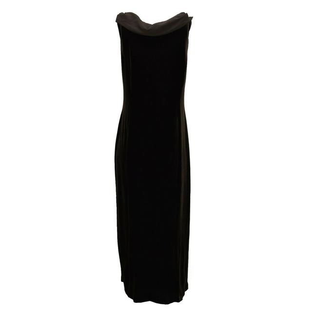 Signature by Robbie Bee Velvet Long Size Dress Image 1