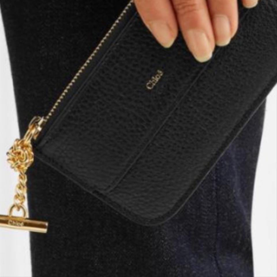 e2b345a9ce Chloé Black Drew Textured Leather Cardholder Coin Pouch Wallet - Tradesy