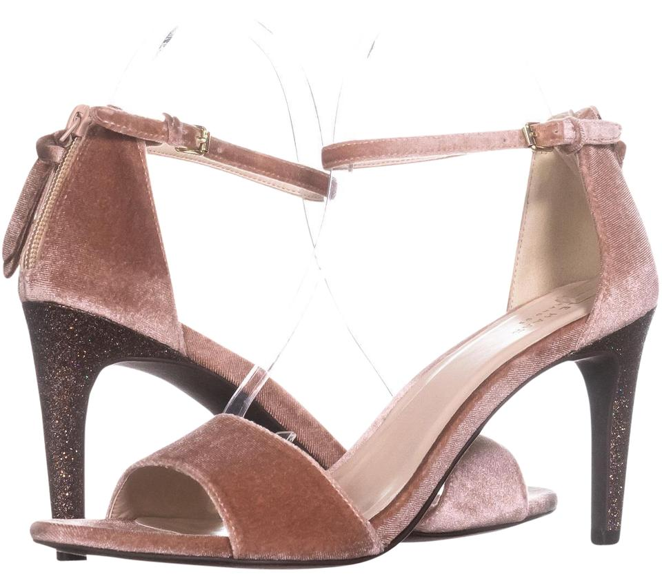 4f9478d12c00 Cole Haan Pink Clara Grand Ankle-strap Dress Sandals 827 Nude Glitter Pumps