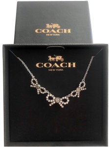 Coach Coach 3 Bow Necklace