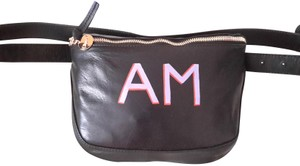 Clare V. Leather Fanny Pack Hand Painted Cross Body Bag