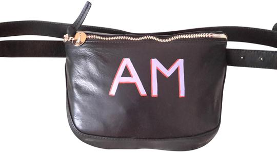 Clare V. Leather Fanny Pack Hand Painted Cross Body Bag Image 0