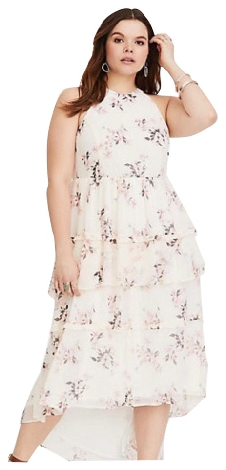 6cfeaf2df01 Torrid Floral Tiered Chiffon Summer Long Casual Maxi Dress Size 26 ...