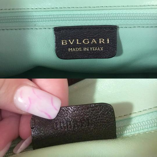 BVLGARI Gold Mint Serpenti Shoulder Bag Image 9