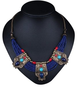 Other Cleopatra Lapis Collar Necklace