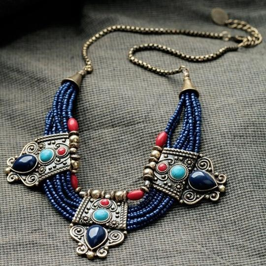Other Cleopatra Lapis Collar Necklace Image 4