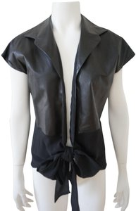 Peter Cohen Leather Silk Vest
