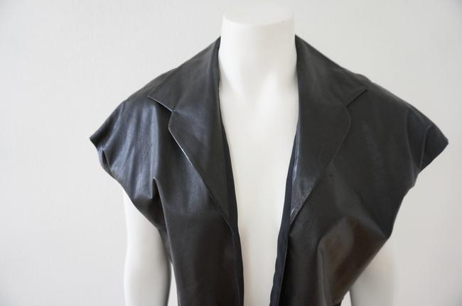 Peter Cohen Leather Silk Vest Image 1