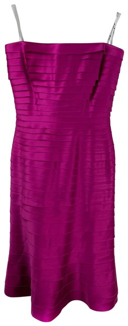 Item - Pink Tiered Strapless Cocktail Mid-length Formal Dress Size 4 (S)