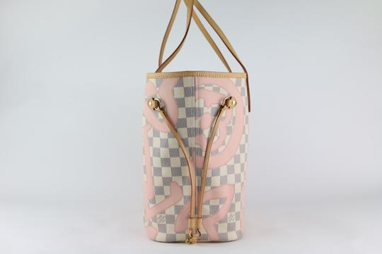 Louis Vuitton Neverfull Mm Tahitienne Neverfull Tahitienne Tote in Damier Azur Image 1