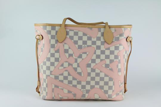 Louis Vuitton Neverfull Mm Tahitienne Neverfull Tahitienne Tote in Damier Azur Image 10