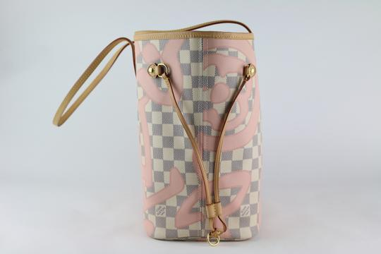 Louis Vuitton Neverfull Mm Tahitienne Neverfull Tahitienne Tote in Damier Azur Image 2