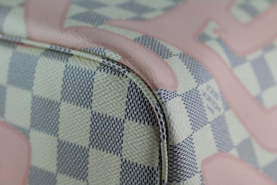 Louis Vuitton Neverfull Mm Tahitienne Neverfull Tahitienne Tote in Damier Azur Image 5