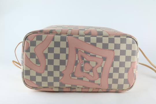 Louis Vuitton Neverfull Mm Tahitienne Neverfull Tahitienne Tote in Damier Azur Image 8