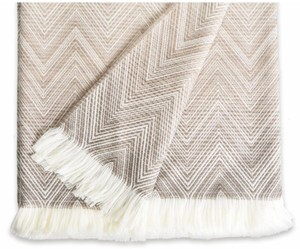 ffd295c6cf Missoni Missoni Throw   Blanket in Merino Wool Timmy Beige