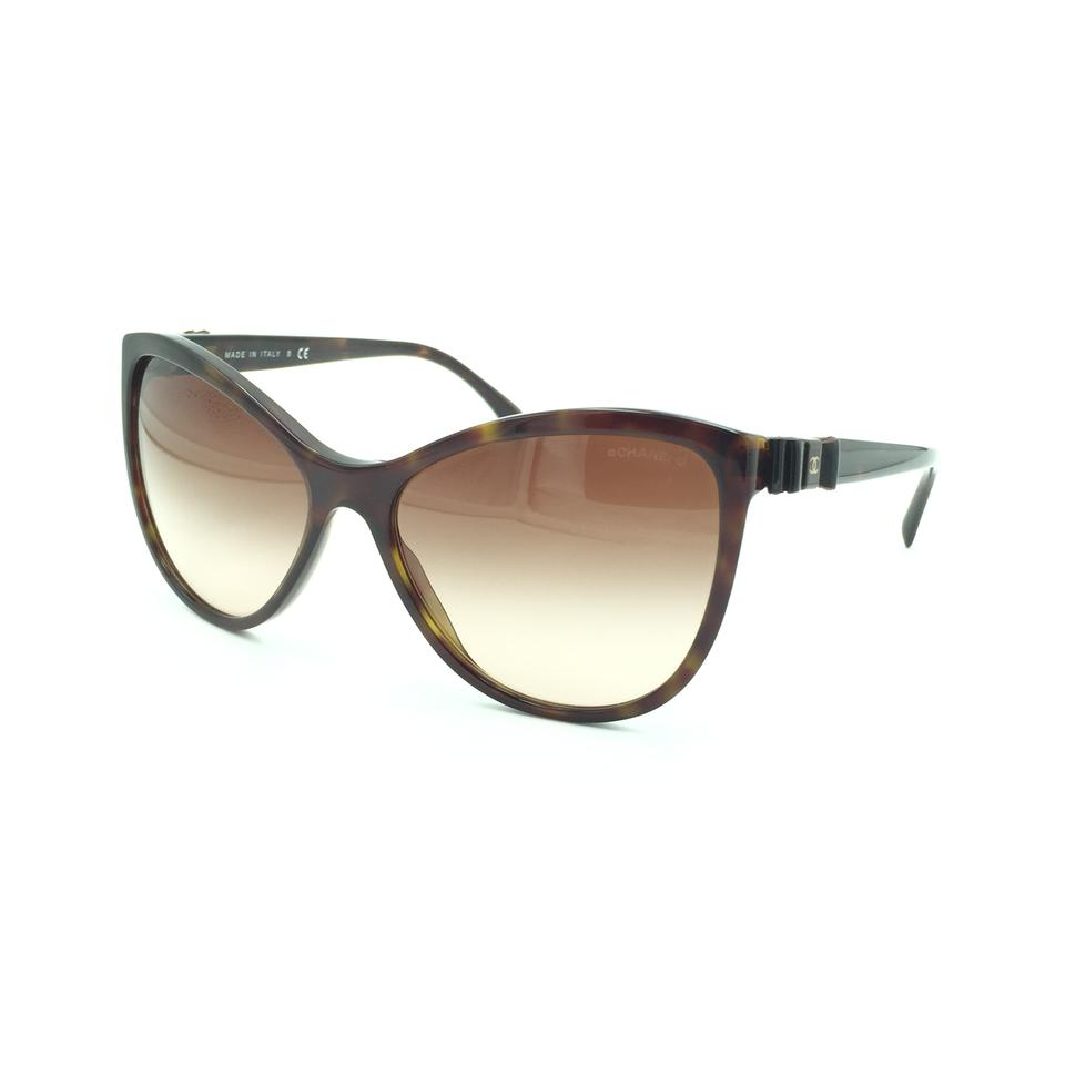 24608a2a9a520 Chanel Chanel Havana Dark Brown Cat Eyed Sunglasses 5281-Q 714 S5 Image 0  ...