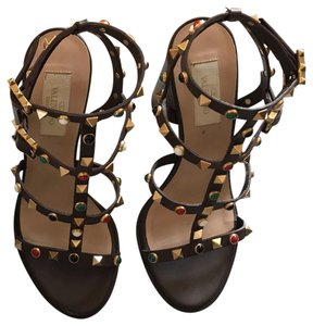 7ea60b089106 Valentino Brown Studded Sandals.  531.40  1