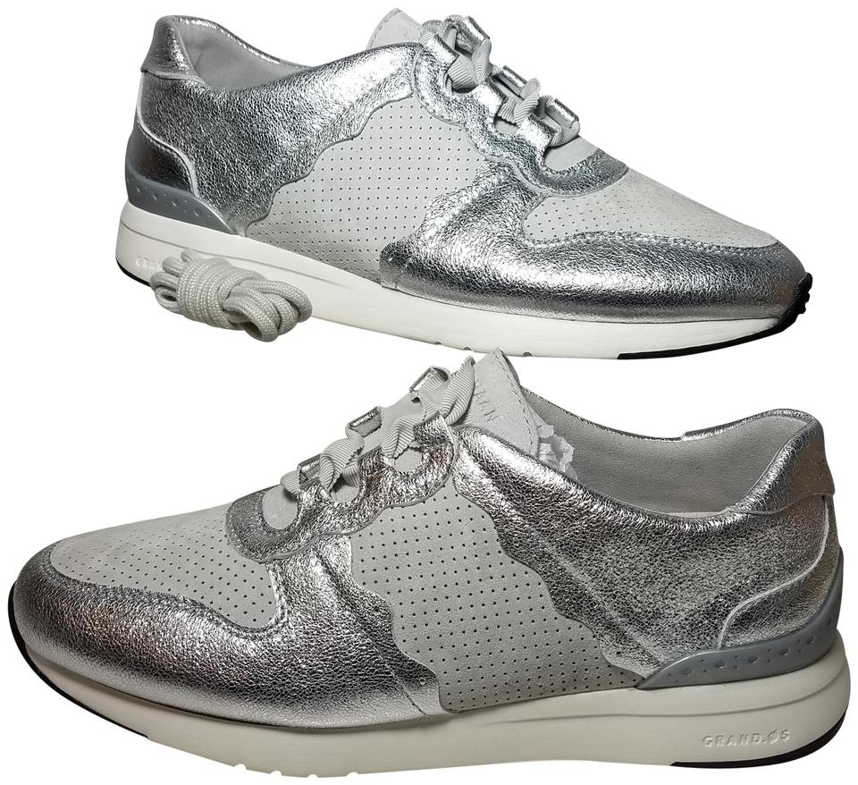 3202f1879e Cole Haan Gray/ Silver Womens Grandpro Leather/ Suede Lace Up Gray/Silver  Sneakers Size US 8.5 Regular (M, B)