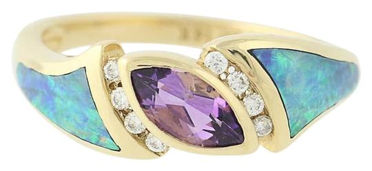 Preload https://img-static.tradesy.com/item/24945714/yellow-gold-new-marquise-cut-amethyst-opal-and-diamond-14k-u0224-ring-0-1-540-540.jpg
