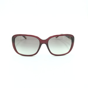 efaf4643638 Tiffany   CO. Translucent Red   Silver Rectangular Sunglasses TF 4120