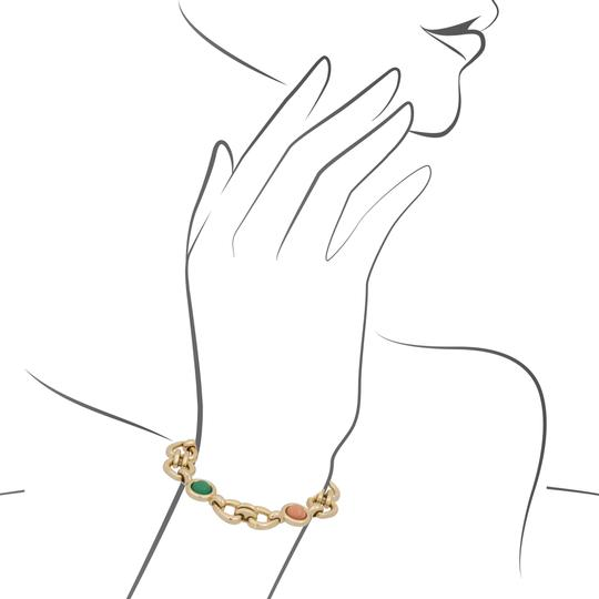 Van Cleef & Arpels Van Cleef & Arples Yellow Gold Coral & Green Jade Heart Love Bracelet Image 4