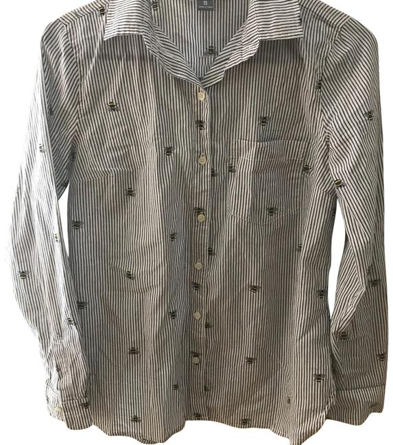 Preload https://img-static.tradesy.com/item/24945793/old-navy-striped-with-bumble-bees-button-down-top-size-2-xs-0-1-650-650.jpg