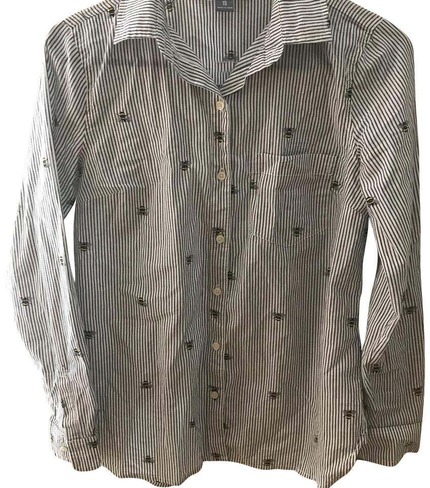 dcef28c6bd Old Navy Striped with Bumble Bees Button-down Top Size 2 (XS) - Tradesy
