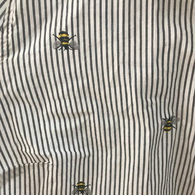 Old Navy Button Down Shirt striped with bumble bees Image 1