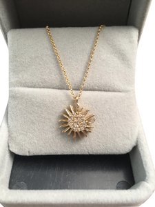 Sydney Evan Sydney Evans 14KT yellow gold and diamond Sun pendant Necklace