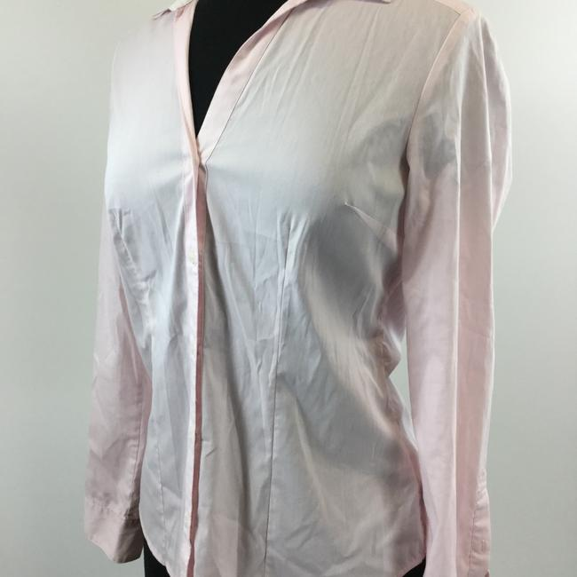 H&M Button Down Shirt Pink Image 1