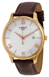 Tissot Tradition Stainless Steel Gold Quartz Round Men's Watch