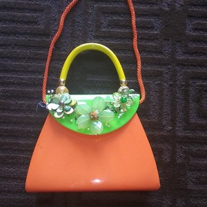 iris lane Satchel in Orange