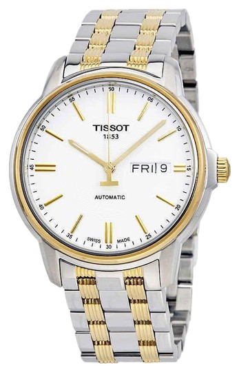 Preload https://img-static.tradesy.com/item/24946040/tissot-white-two-tone-t-classic-stainless-steel-gold-round-men-s-watch-0-1-540-540.jpg