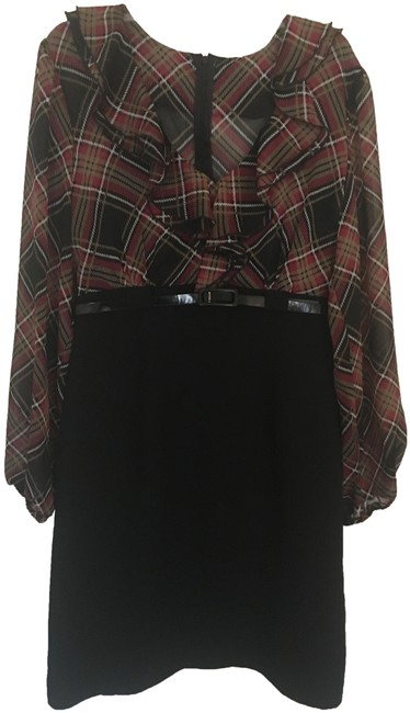 Preload https://img-static.tradesy.com/item/24946058/connected-apparel-black-and-plaid-career-mid-length-workoffice-dress-size-16-xl-plus-0x-0-1-650-650.jpg