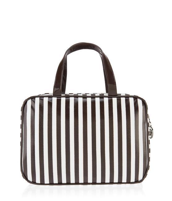 Item - Multicolor Striped Travel with Hanging Hook Cosmetic Bag