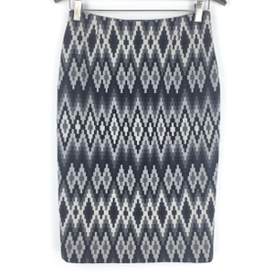 Michael Kors Wool Geometric Madeinitaly Skirt Gray