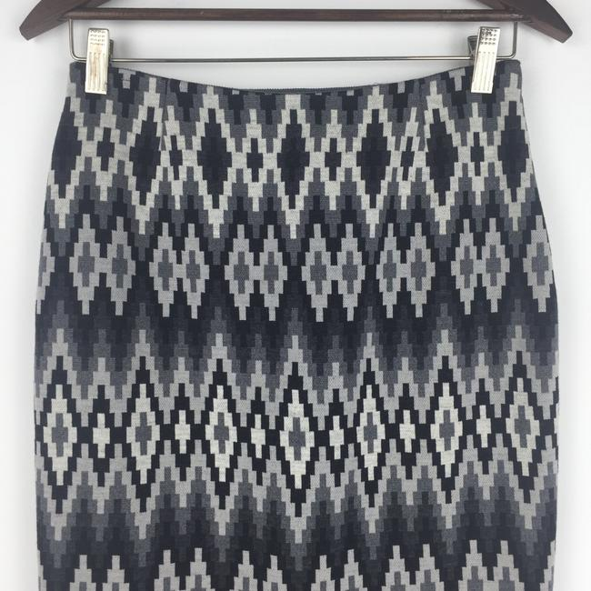 Michael Kors Wool Geometric Madeinitaly Skirt Gray Image 1