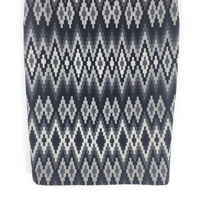 Michael Kors Wool Geometric Madeinitaly Skirt Gray Image 2
