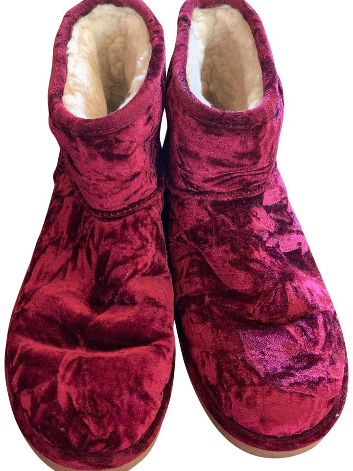 d5e4a28965c UGG Australia Color Is Fig But It's A Very Deep Burgundy. Great with Jeans.  Classic Mini Crushed Velvet Women's Boots/Booties Size US 12 Regular ...