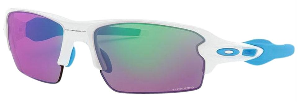 6b4922f71d4 Oakley Polished White Frame   Prizm Golf Lens Unisex Sports Sunglasses
