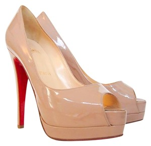 Christian Louboutin Patent Leather Hidden Nude Platforms