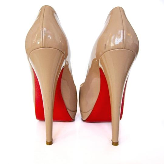 Christian Louboutin Patent Leather Hidden Nude Platforms Image 2