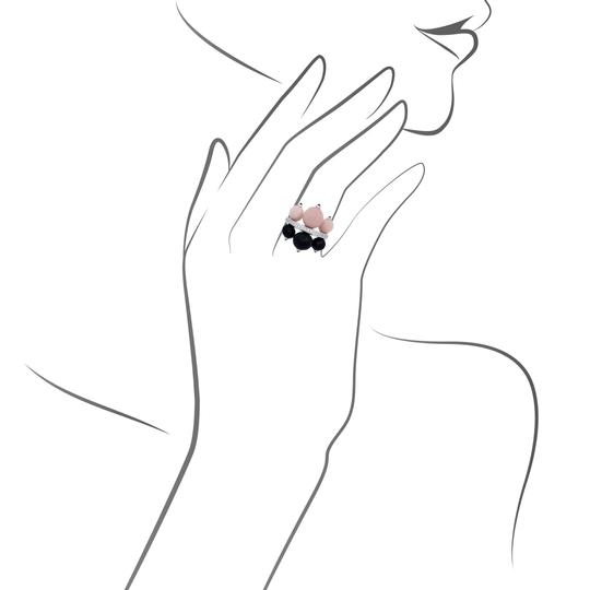 Cartier Cartier 18K Yellow Gold Diamond, Onyx, Ruby & Coral Ring Size: 6.75 Image 3